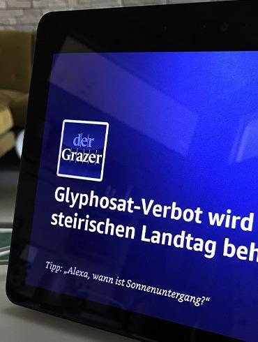 """TUNNEL23 launcht Alexa Skill für """"der Grazer"""""""