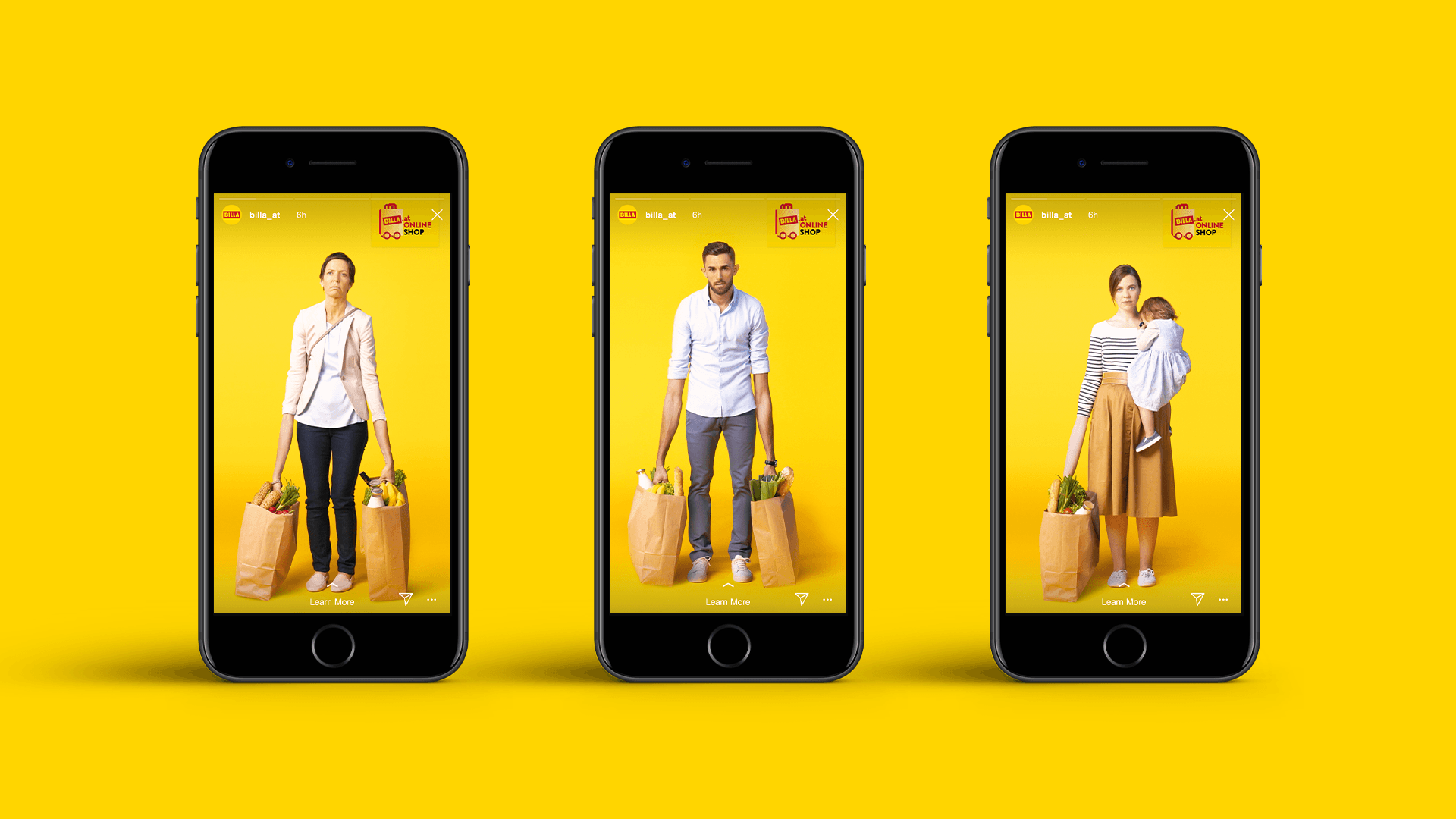 BILLA Online Shop Kampagne