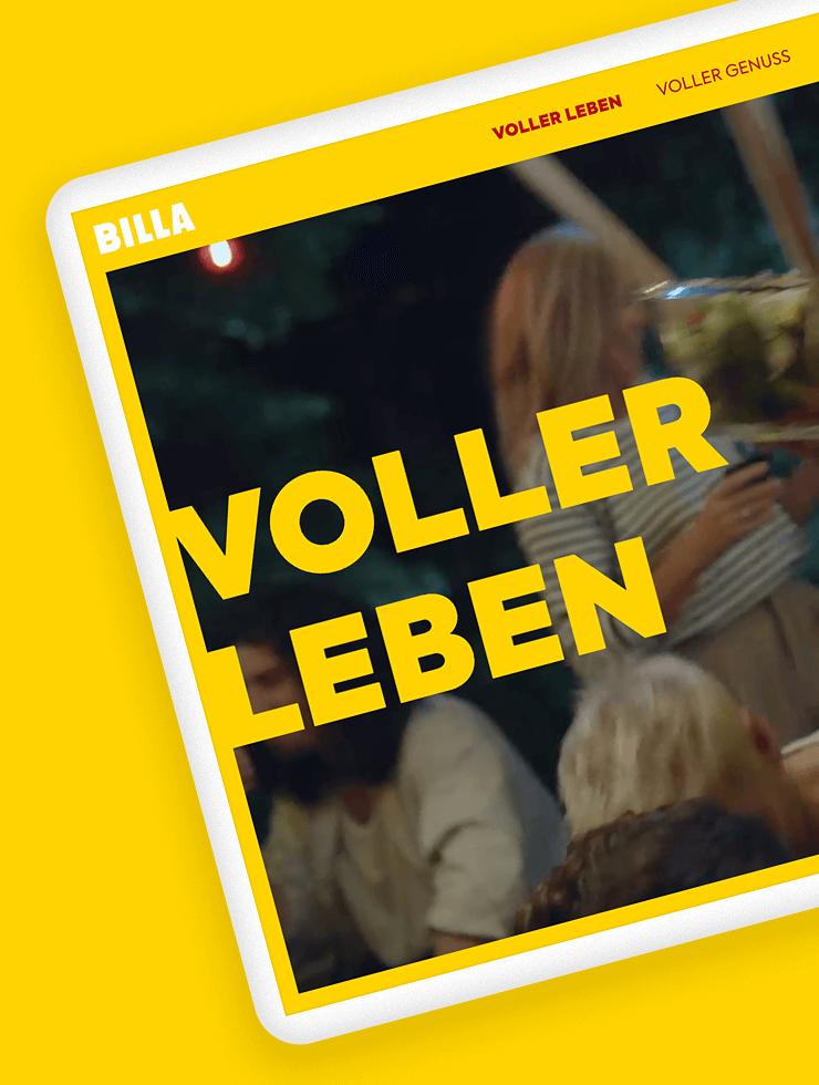 BILLA Markenrelaunch VOLLER LEBEN