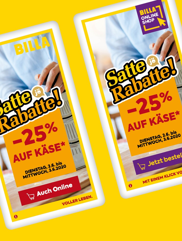 Dynamic Ad Lösung vereinfacht BILLA Online-Marketing