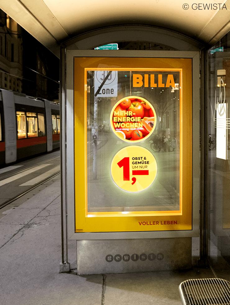 BILLA ist First Mover von neuer DOOH HoloCIRCLE-Technologie